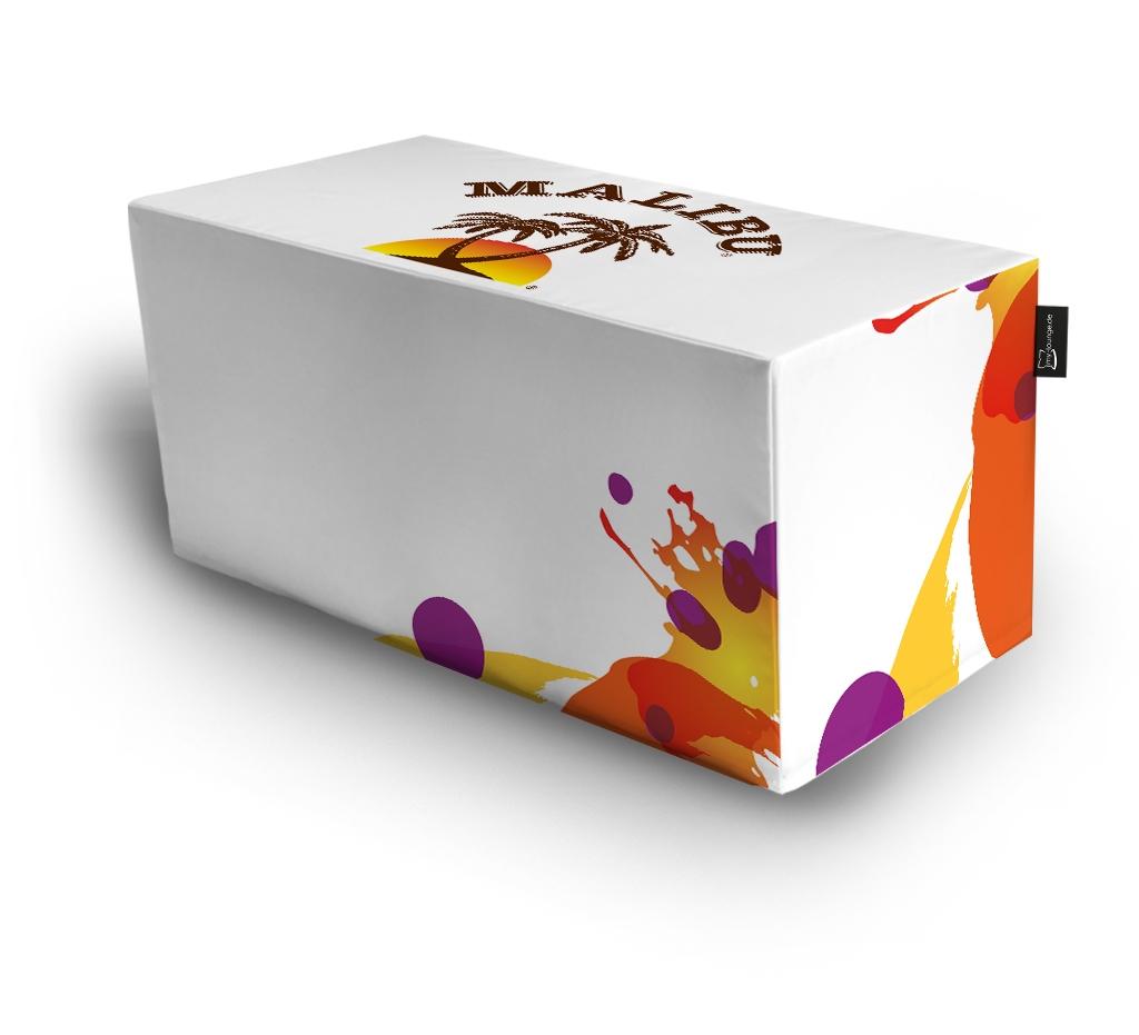 Bedruckter Sitzwürfel Cube50x2 100 x 50 x 50 cm von my-lounge.de