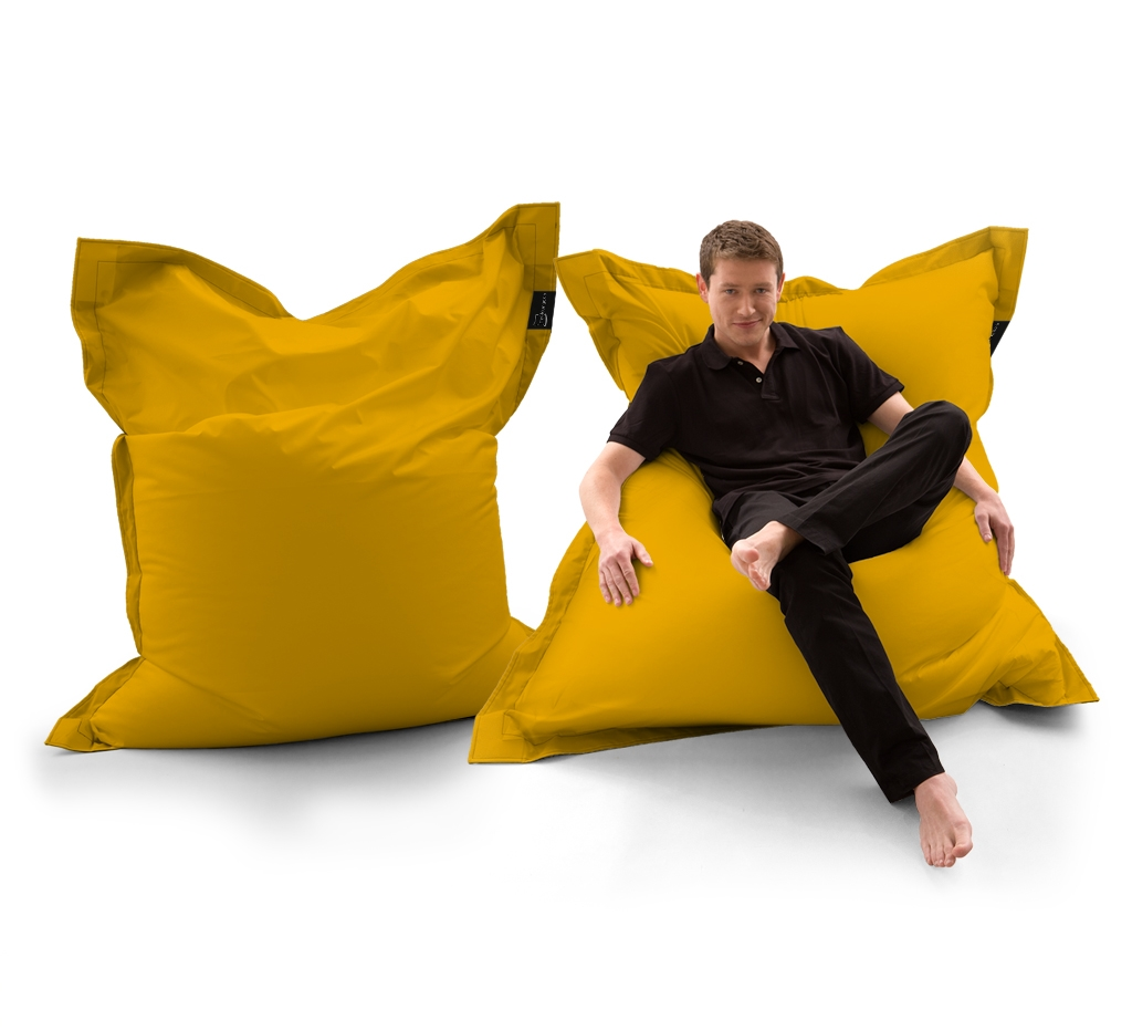 Sitzsack Lounger UNI Gelb my-lounge.de
