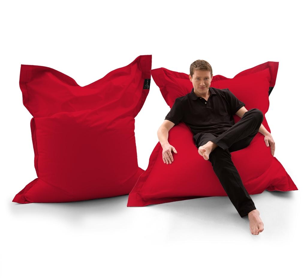 Sitzsack Lounger UNI Rot my-lounge.de