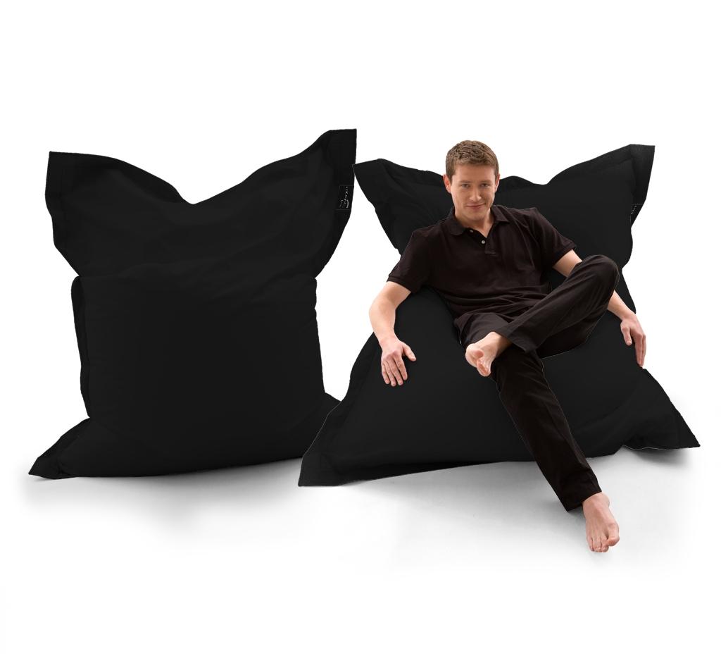 Sitzsack Lounger UNI Schwarz my-lounge.de
