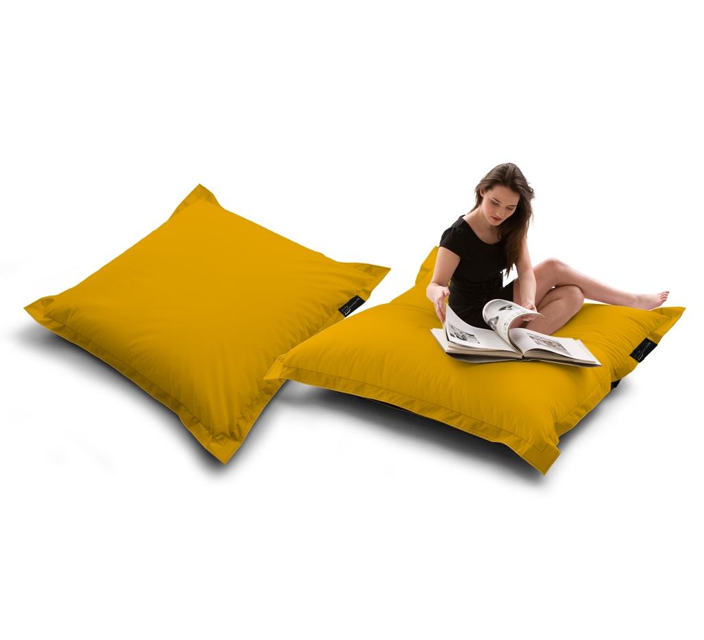 Sitzsack Quad Lounger UNI Gelb my-lounge.de